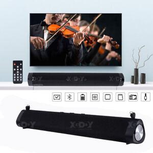 30W Bluetooth 5.0 Soundbar Subwoofer Fernbedienung Lautsprecher für TV PC Handy