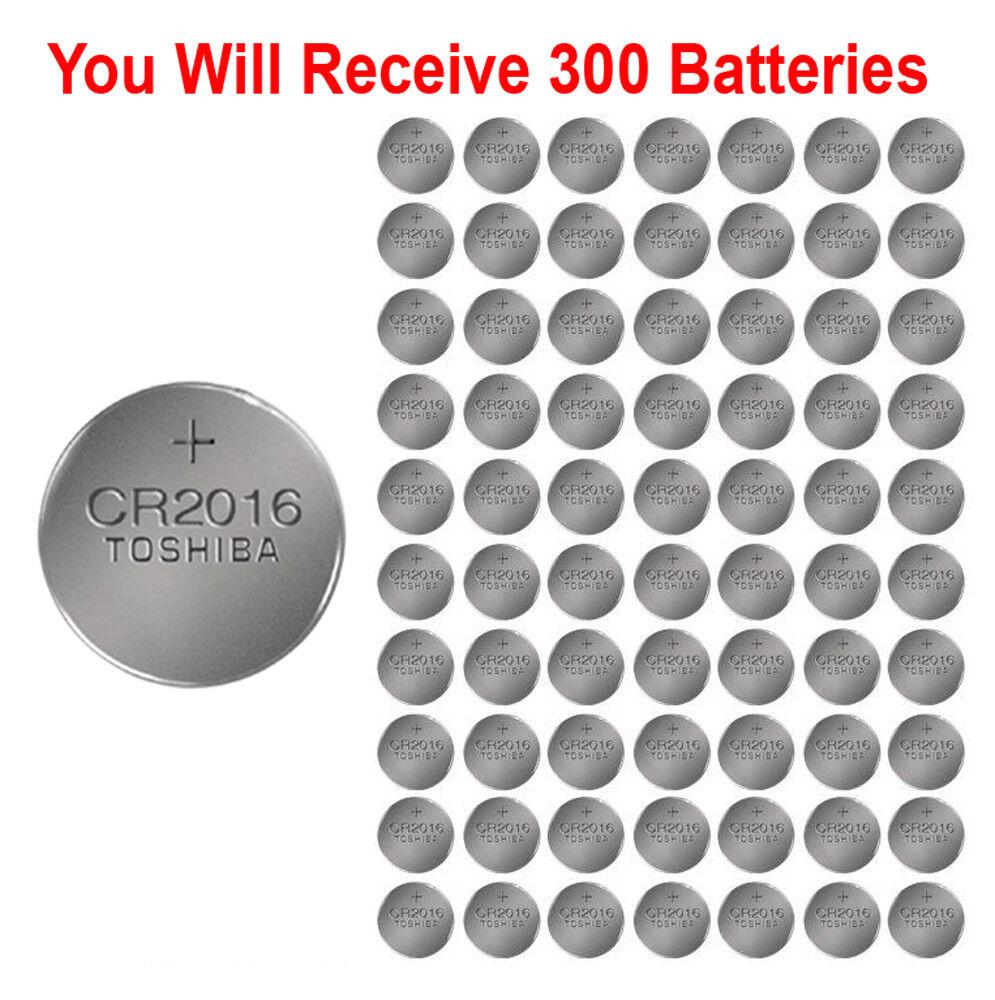 300x Toshiba CR2016 Batteries 3v Lithium Coin Battery Bulk Wholesale Lot Bulk