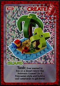 Island #83 Sainsbury/'s Create The World Lego Minifigures Card C381