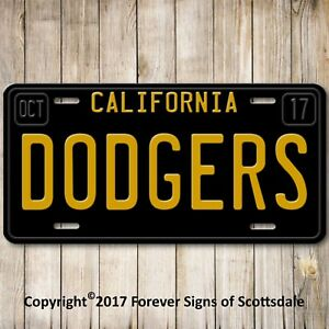 Los-Angeles-California-DODGERS-Baseball-Team-License-Plate-Tag-Gift-Dad-New