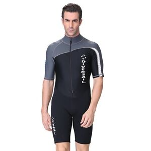 Mens-Diving-Wetsuit-Swimwear-Anti-UV-Short-Sleeve-Snorkeling-Surf-Swim-Wet-Suit