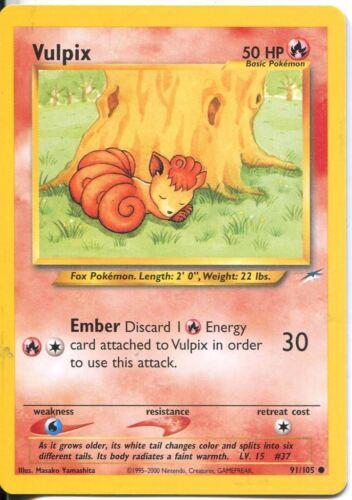 Pokemon Neo Destiny Common Card #91//105 Vulpix