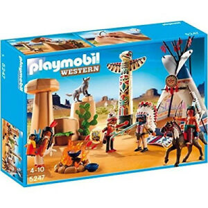 Playmobil 5247, camp amérindien à totem