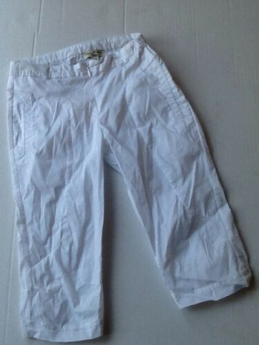 BNWT Eliane et lena Girls White Cropped Capri Trousers Gargamelle