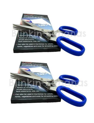 2 X BLADE MULTI CUT SECURITY PAPER SHREDDING SHREDDER HERB KITCHEN SCISSORS 31A