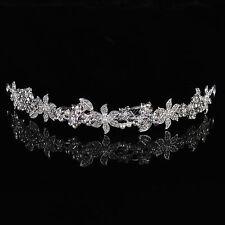 Wedding Pearl Tiara Crystal Bride Bridesmaid Flower Girls Prom Queen Crown Veil