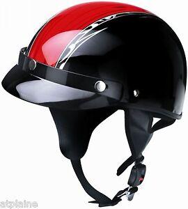 CASQUE-SUMMER-Fibre-de-verre-Noir-et-Rouge-Taille-XL