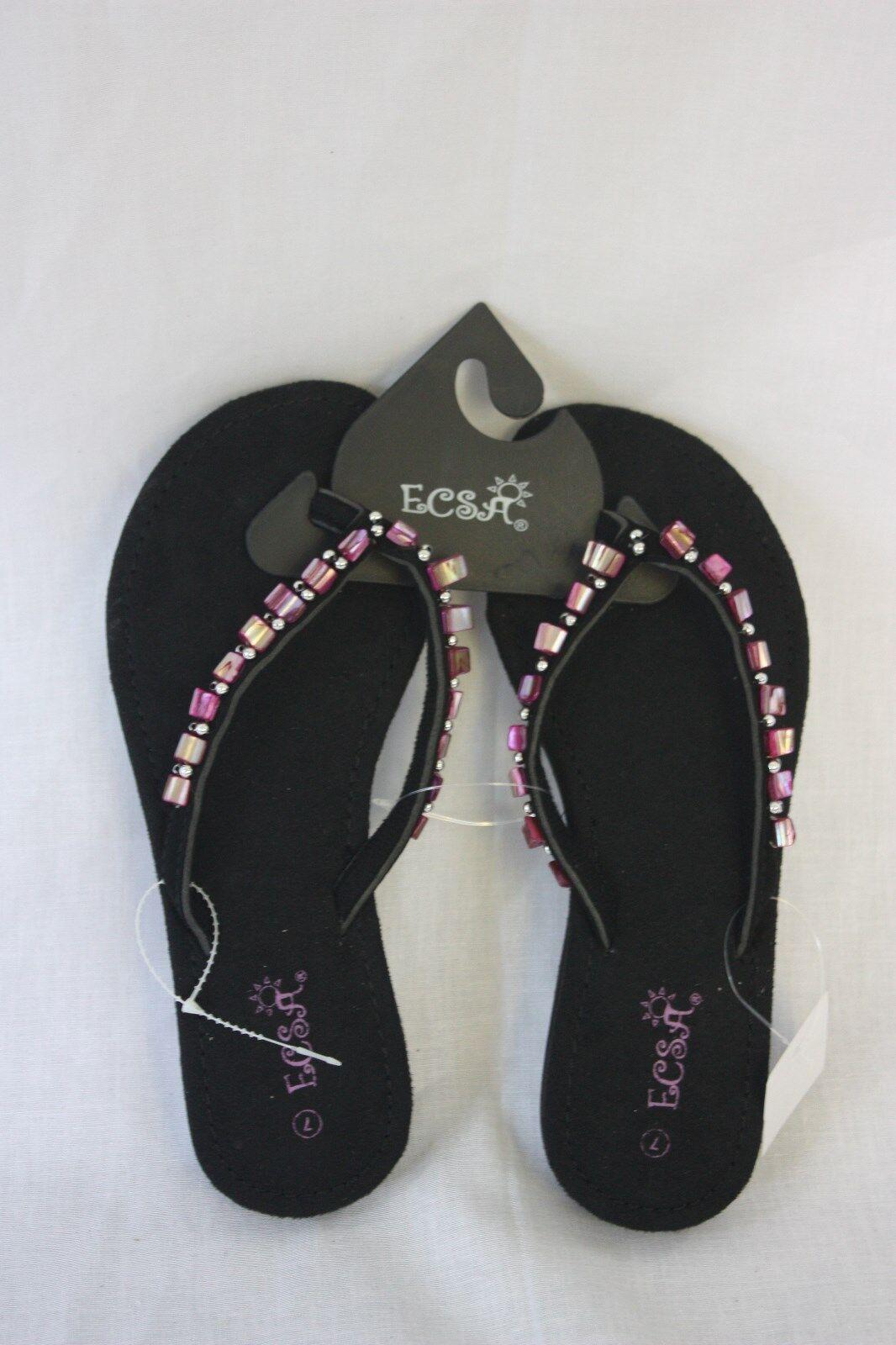 Sandlas ESCA  Pink & Black Pink Size GemT Strap   Size Pink 6  NEW 321aae