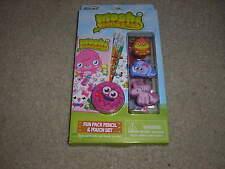 New Rose Art Moshi Monsters Fun Pack Pencil & Pouch Set Coolio Doris Angel