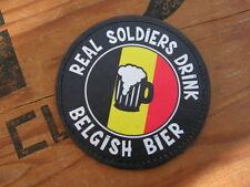Snake Patch - REAL SOLDIERS DRINK BELGISH BIER - bière soldat Belgique Belge PVC