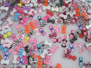3D-Nail-Art-Bows-Nail-Decoration-Bows-Skulls-Crowns-Candy-Lollipops-100-PIECES