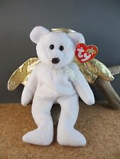 2000 Ty Beanie Babies Baby Halo II 2 White Gold Wings Teddy Bear #251