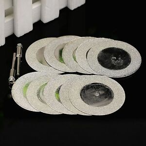 10pcs-50mm-2-034-Diamond-Coated-Rotary-Cutting-Cut-off-Blade-Wheel-Disc-2-Mandrel