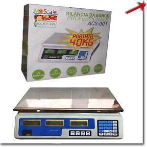BILANCIA MAX 40KG DIGITALE ELETTRONICA PROFESSIONALE GRAMMI CHILO CHILI