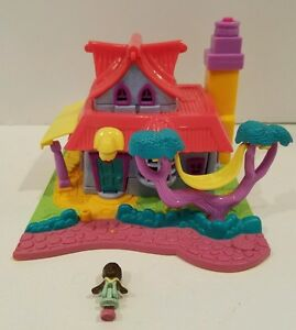 Special Section Bluebird 1994 Polly Pocket Swing Set Playground Dolls