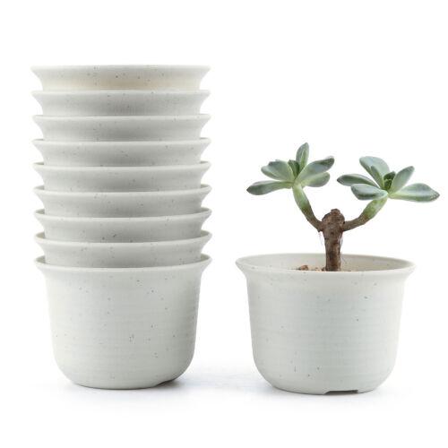 environ 8.89 cm Plastique Rond plante grasse pot//Cactus Flower Planter T4U 10x 3.5 in