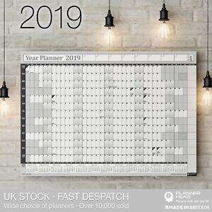 Grafico-de-pared-Planificador-de-2019-ano-con-2020-calendario-Inc-fiestas-Hogar-Oficina-Trabajo