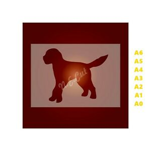 GOLDEN-DOODLE-Dog-Stencil-350-micron-Mylar-not-Hobby-stuff-DOGS110