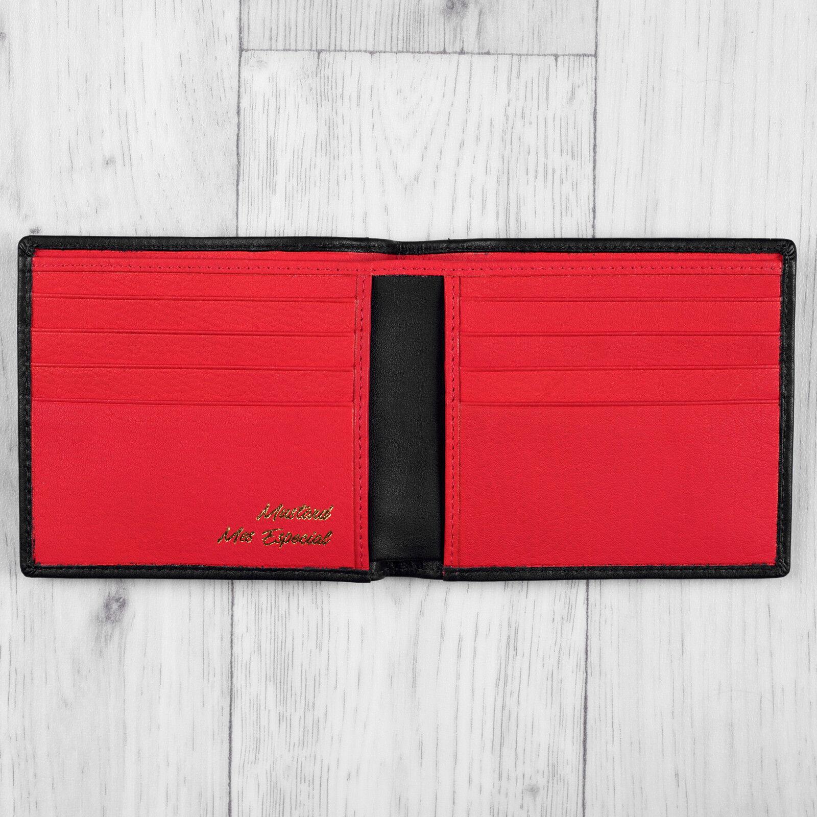 Black Luxury Leather Mens Slim Lando Wallet By Mustard RRP £20.00