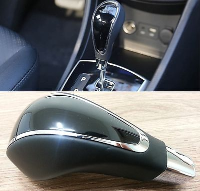 Glossy Leather A/T Gear Shift Lever Knob FOR Hyundai Accent Solaris 2011-2013