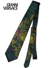 GIANNI VERSACE Vintage 90s Tie Big Medusa Sheeny Jacquard Authentic MINT