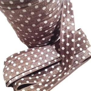 "3 yards smokey grey chevron printed 5//8/"" fold over elastic FOE"