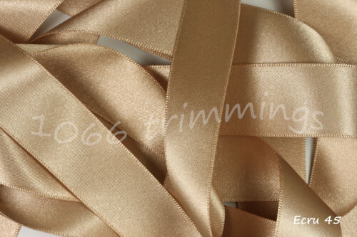 3mm Berisfords Double Satin Ribbon All 84 Colours Short Cuts or Full Reels