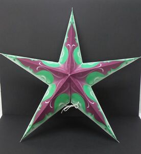 Image Is Loading Star Light Purple Teal White Paper Lantern