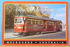 Postcard-Melbourne-Australia-City-Circle-Tram-Postmarked-2004