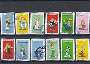 FRANCE-2019-ASTERIX-SERIE-COMPLETE-DE-12-TIMBRES-AUTOADHESIFS-CACHETS-RONDS