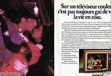 Publicité advertising 1975 (2 pages) Le téléviseur Trinitron Sony