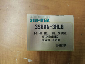 SIEMENS-3SB06-3MLB-NEW-IN-BOX-30MM-SEL-SW-3-POS-MAINT-BLACK-LEVER-B42