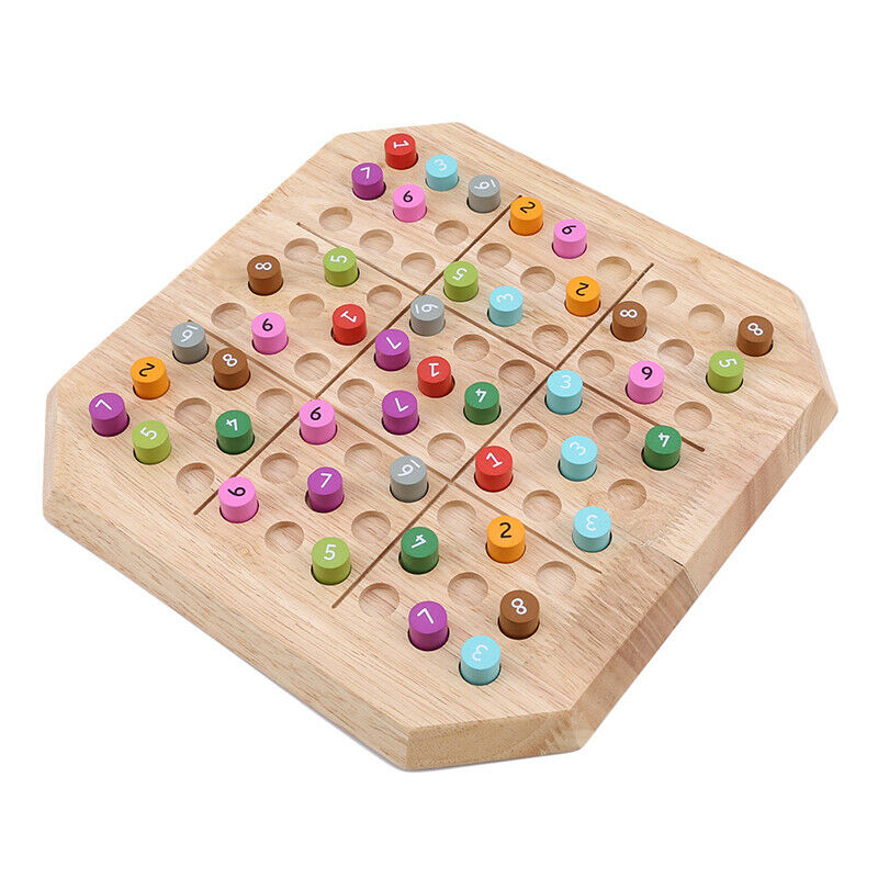 Wooden Sudoku Training Table Board Game Logical Reasoning Puzzles Kids Toy LH