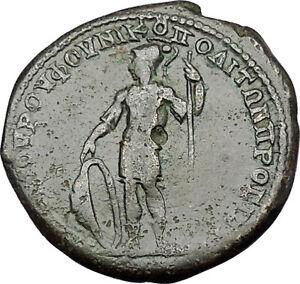 ELAGABALUS-218AD-Nicopolis-ad-Istrum-ARES-Shield-Ancient-Roman-Coin-i50918