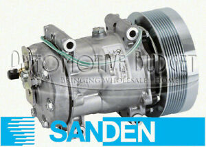 Sanden-4302-4840-A-C-Compressor-w-Clutch-for-Caterpillar-NEW-OEM