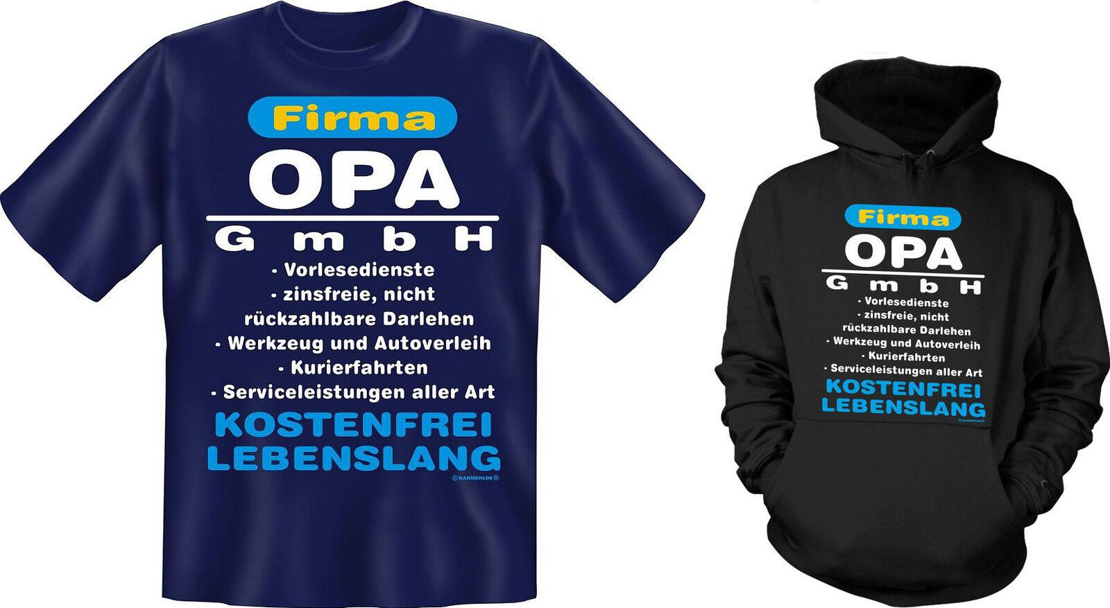 Kapuzenshirt Hoodie od. T-Shirt Firma Opa GmbH Opi Neu Baumwolle  | Guter weltweiter Ruf  | Deutsche Outlets  | Kostengünstiger