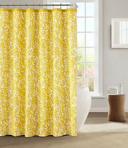Kensie spring yellow white decorative modern chic fabric - Modern fabrics for curtains ...