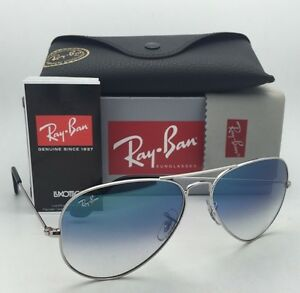 16400deb4f7a5 Ray-Ban Sunglasses RB 3025 LARGE METAL 003 3F 58-14 Silver Aviator w ...
