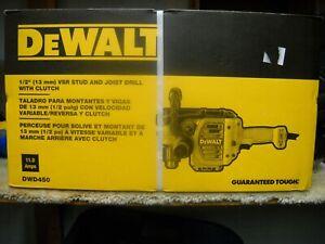 """New!!! DeWALT DWD450 1//2/"""" VSR Stud /& Joist Drill w// Clutch Dual Speed Range"""
