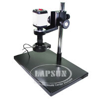2mp Vga Usb Tv Av Industry Microscope Camera + C Mount Lens +metal Table Stand A