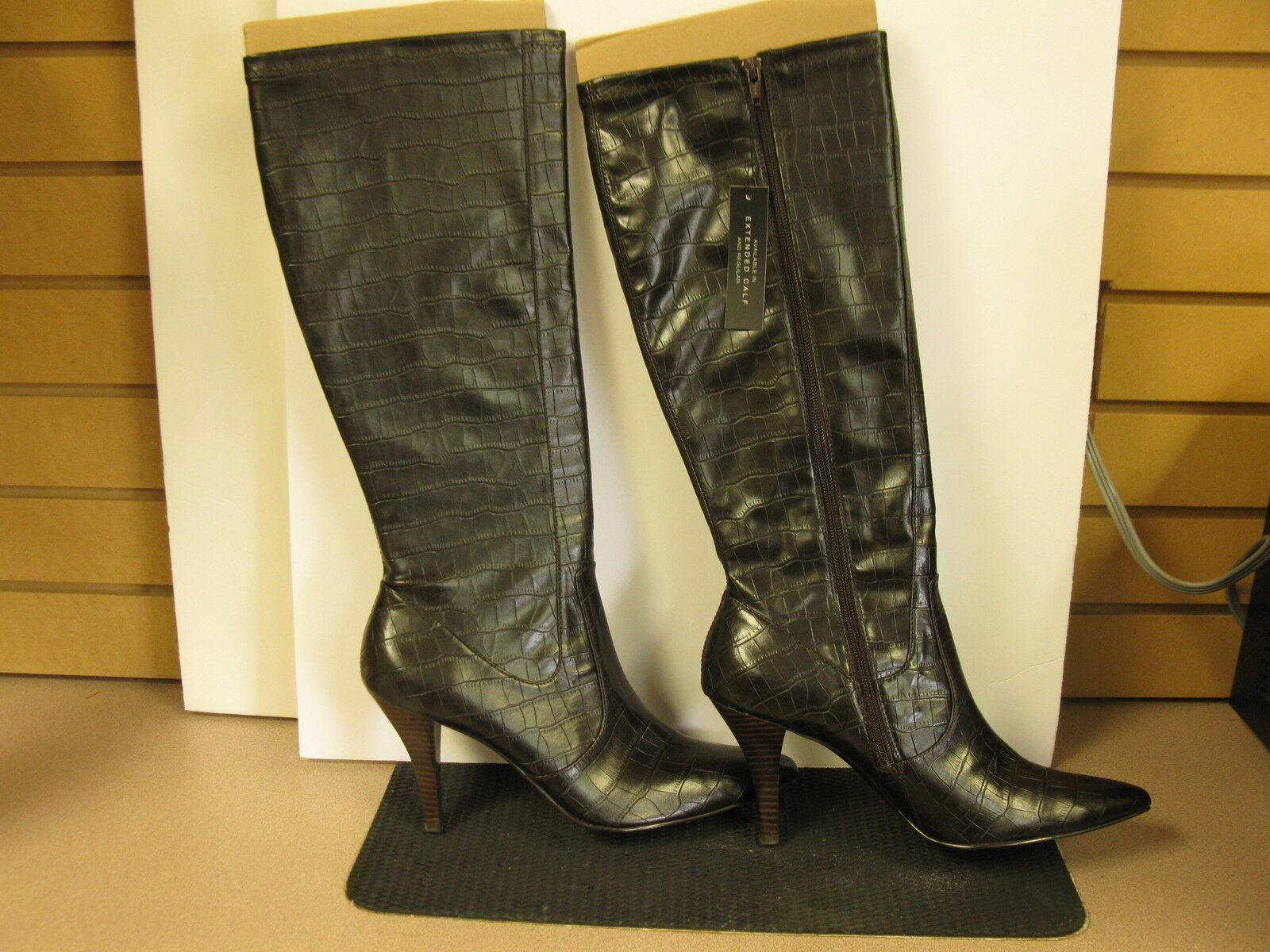 Alfani Kellen Knee High Boots Size10. dark brown. brown. brown. 635ae6