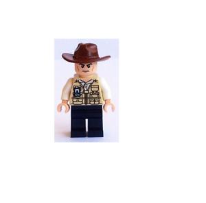 Hat Fedora jw009 NEW LEGO Vet Scowling FROM SET 75918 JURASSIC WORLD
