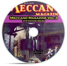 Meccano Magazine Vol 3, 213 Classic Issues, Boy Hobby Toy History Mag DVD CD C16