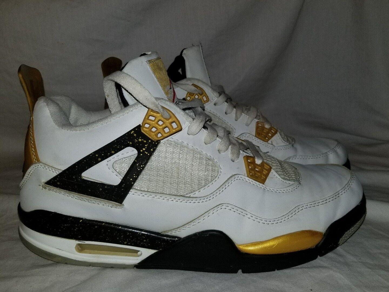 Jordan 4 oro oro oro Diggers DMC Kicks Rare Dimensione 12 bianca nero oro 636018