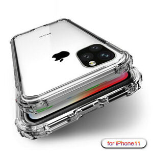 For-iPhone-11-Pro-XS-Max-XR-X-8-7-6-5-Shockproof-Transparent-Silicone-Case-Cover