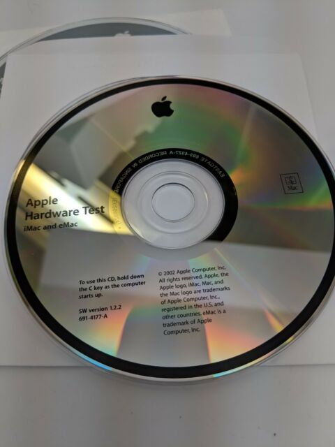 Apple Hardware Test SW Version 1.2.3 for Mac Powerbook G4 CD 691-4076-A 2002