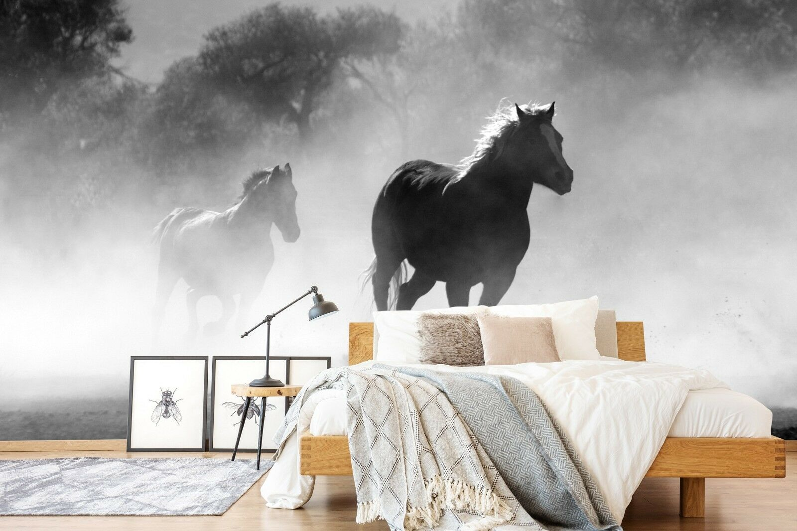 3D grau Horse 7189 Wall Paper Print Wall Decal Deco Indoor Wall Murals US Summer