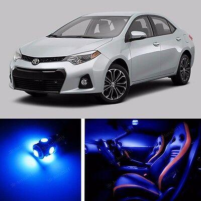 9pcs LED Blue Light Interior Package Kit for Toyota Corolla 2014-2016  6507024092829 | eBay