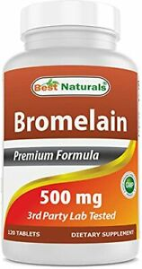 Best Naturals Bromelain Proteolytic Digestive Enzymes Supplements 500 mg 120 T