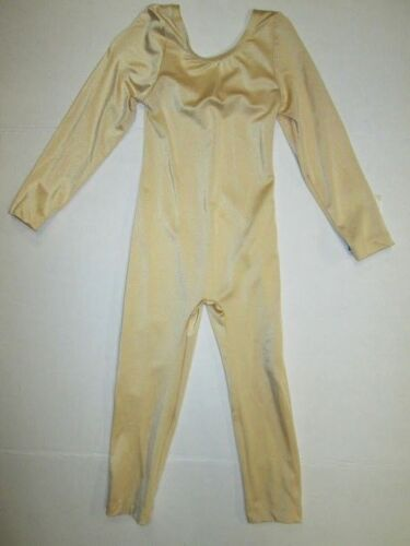 NEW Girls Unitard Size 4 6 10 12 SC IC MC LC Nude Gold Costume Leotard Dance
